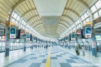 The actual station via Shinagawa Station